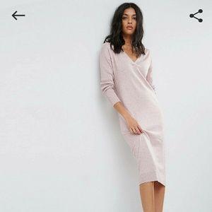 Silk sweater dress